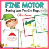 Line Tracing Fine Motor Skill activities:[Christmas Themed]