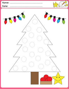 Line Tracing Fine Motor Skill activities:[Christmas Themed]