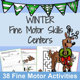 Scissors Skills worksheets and Fine Motor Practice: Winter