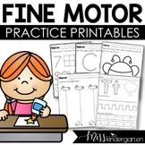 Fine Motor Skills Worksheets | Q tip Painting | Scissor Sk