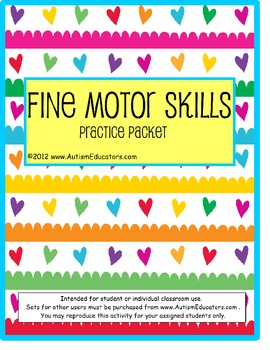 Fine Motor Skills Writing and Tracing Packet