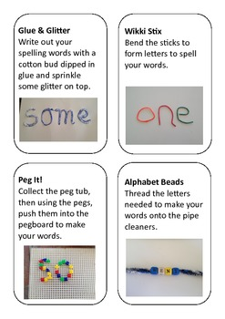 Fine Motor Spelling Practice Activity Cards