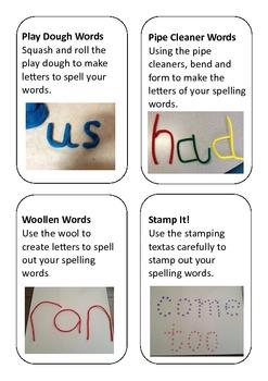 Fine Motor Spelling Practice Activity Cards