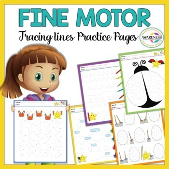 Fine Motor Skills activities:Tracing Worksheets No prep