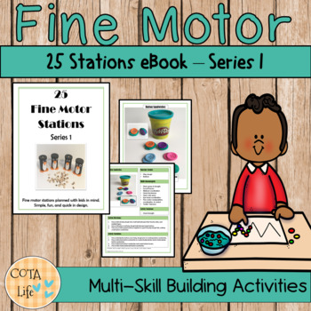 Fine Motor Stations or Centers -  Series 1