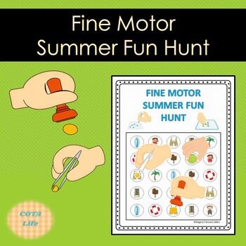 Fine Motor Summer Fun Hunt