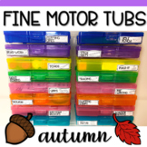 Fine Motor Task Card Boxes for Preschool & Kindergarten - Autumn Theme