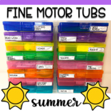 Fine Motor Task Card Boxes for Preschool & Kindergarten -