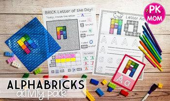 Fine Motor Task Cards: ABC Brick Activity Pack