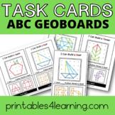 Fine Motor Task Cards: ABC Geoboard Pack