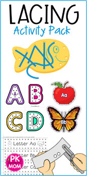 Fine Motor Task Cards: ABC Lacing Activity Pack