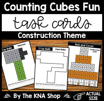 Fine Motor Task Cards - Counting Cubes Construction Theme