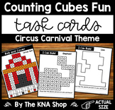 Fine Motor Task Cards - Counting Cubes Circus Carnival Theme