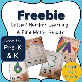 Freebie Fine Motor Learning Sheets