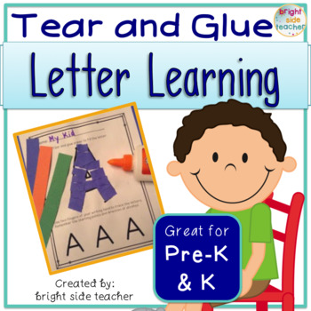 Fine Motor Tear and Glue Letter Learning