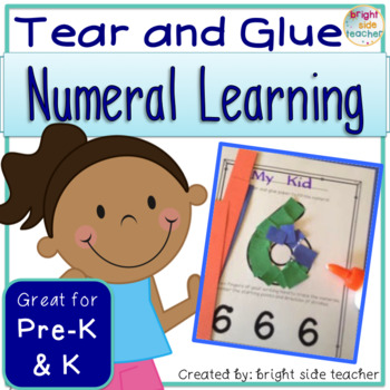 Fine Motor Tear and Glue Numeral Learning
