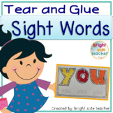 Fine Motor Tear and Glue Sight Words