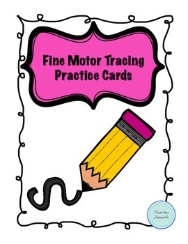 Fine Motor Tracing Practice Cards
