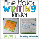 Fine Motor Worksheets Binder - Level 1