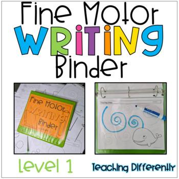 Fine Motor Worksheets Binder - Level 1