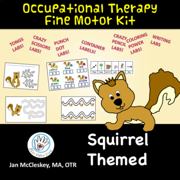 Fine Motor Variety Pack:  Fun Squirrel Themed by Jan McCle