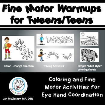 Fine Motor Warm-ups Bundle for Tweens and Teens for Eye Hand Coordination