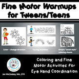 Fine Motor Warm-ups Bundle for Tweens and Teens for Eye Ha