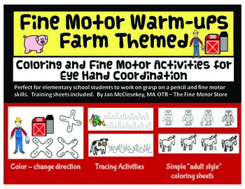 Fine Motor Warm ups - Farm Themed