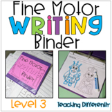 Fine Motor Worksheets Binder - Level 3