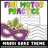 Fine Motor Worksheets - Mardi Gras