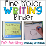 Fine Motor Worksheets Binder - Pre-Writing Level