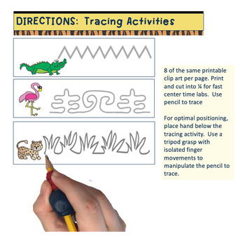 Fine Motor Zoo Themed Pencil Power Deluxe Activities to Teach Grasp