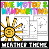 Fine Motor and Handwriting Worksheets - Weather