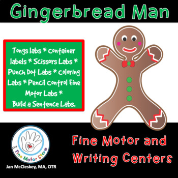 Fine Motor and Writing Warm ups - Gingerbread Man Themed