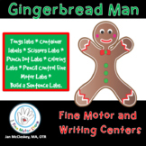 Gingerbread Man Activities Fine Motor and Writing Centers