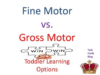 Fine Motor vs Gross Motor Toddler Book