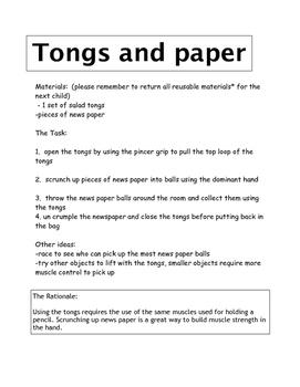 Fine motor ideas for kindergarten