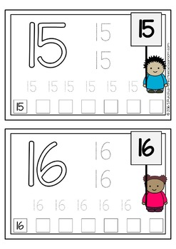 Fine motor skills task cards - NUMBERS - writing practice - Occupational Therapy