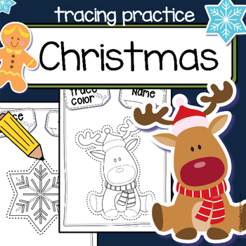 Fine motor skills  - tracing practice - CHRISTMAS - Occupa
