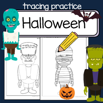 Fine motor skills  - tracing practice - HALLOWEEN - Occupational Therapy