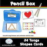 Fine motor activities using TONGS to teach SHAPES