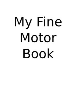 Fine motor tracing book