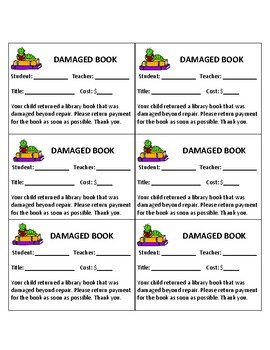 Fines, Lost and Damaged Books