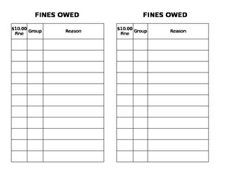 Fines Owed
