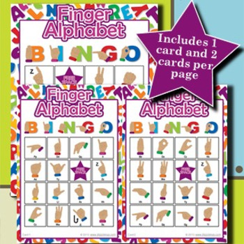 Finger Alphabet 4x4 Bingo 30 Cards