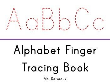 Finger Tracing Alphabet Book