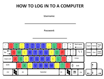 Finger-Colored Keyboard Practice with Login