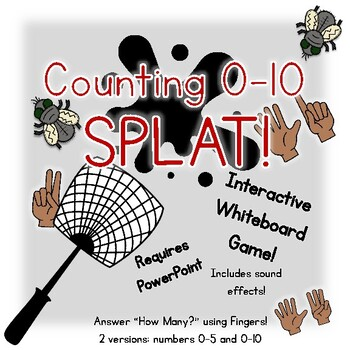 Finger Counting 0-10 SPLAT! An interactive whiteboard number game!