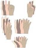 Finger Counting Hands Clip Art:  Show Numbers From 1 to 10 with Fingers!