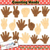 Finger Counting Hands Clip art